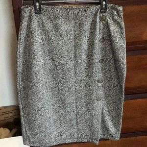 Gray skirt .with button detail